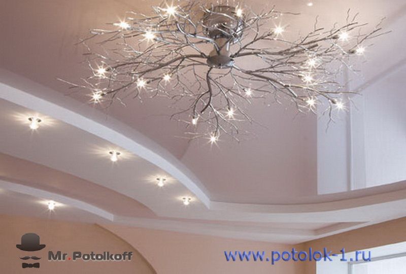 A large assortment of stretch ceilings